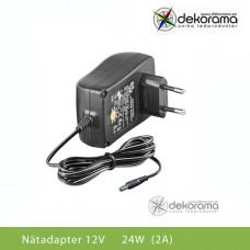 Hem Nätadapter 24W (2A) 12VDC IP20