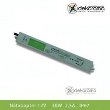 Hem Nätadapter 30W (2,5A) 12VDC IP67