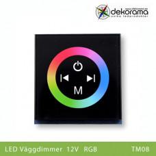 Hem Väggdimmer Touch 12v full RGB styrning