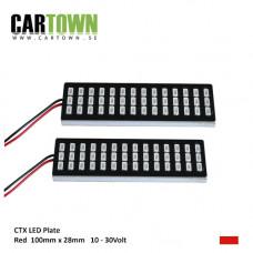 LED-Plattor RÖD  lamphusmontering (1par)