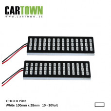 LED-Plattor VIT  lamphusmontering (1par)