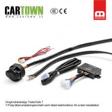 TrailerSafe 7-polig kontakt med Tätad styrbox