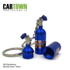 Nyckelring Lustgasflaskor, blå 2st Fri Frakt