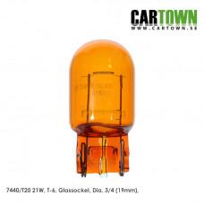 Glödlampa T20 7440NA (Orange) (2st)