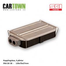 Kopplingsbox 6 skruvplintar