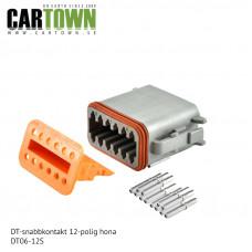 DT-kontakt 12-polig hona