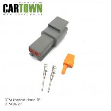 DTM-kontakt 2-polig hane