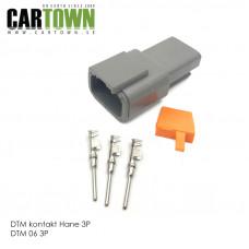 DTM-kontakt 3-polig hane