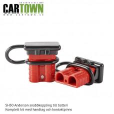 SH50 Snabbkoppling Batteri Röd