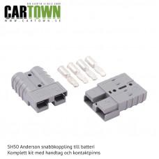SH50 Snabbkoppling Batteri Grå