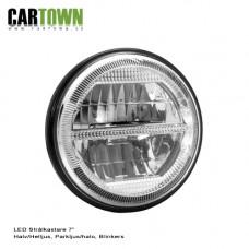 """Framlyktor 7"""" LED park, blinklampa 1par"""