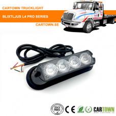 Blixtljus 4 LED 10-30V 18 funktioner