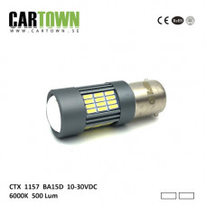Ledlampa 1157 BA15D VIT/VIT (1st)