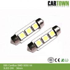LED CANBUS S85 3 SMD Vit (2st)
