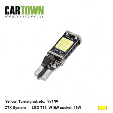 LED CANBUS T15W / H15 (921) Gul 2st