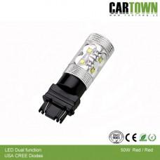 LED 3157 CREE 50W Röd/Röd