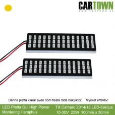 LED-Plattor Ren Gul Blinkers lamphusmontering (1par)