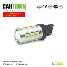 LED Switchback 7443 / T25 SMD Vit/Gul Gen5 (1st)