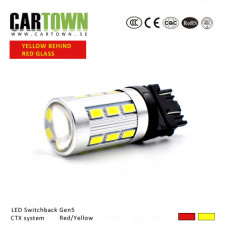 LED Switchback 3157/T25 SMD Röd/Gul Gen5 (1st)