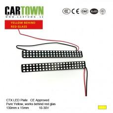 LED-Plattor Ren Gul Blinkers lamphusmontering slim ce (1par)