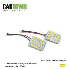 LED-Plattor Gul Blinkers lamphusmontering (1par) Mini