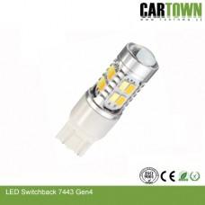 LED Switchback 7443 T25 SMD Vit/Gul Gen3 (1st)