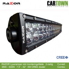 "RAZOR Ljusramp 2-raders 36W 7.5"" Rak Spot"