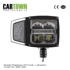 Ploglampa Strands LED 4 funk. + värmelins 12-30V, 42W