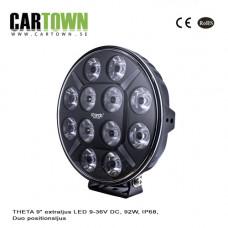Extraljus THETA 9″ LED 9-36V DC, 92W, IP68