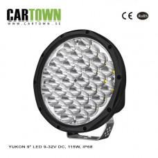 Extraljus YUKON 9″ LED 9-32V DC, 115W, IP68