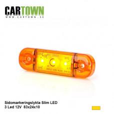 Sidomarkering 3 LED Orange slim 12-24V