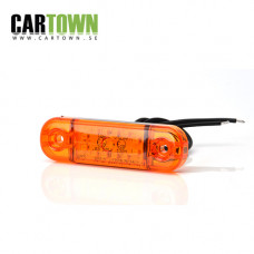 Sidomarkering 12 LED Orange slim 12-24V
